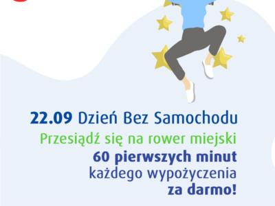 Dzień bez samochodu na Żyrardowskim Rowerze Miejskim: pierwsza godzina za darmo